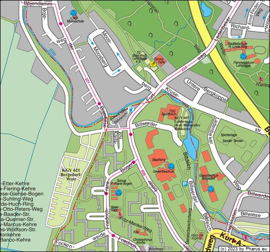 Stadtplan Bergedorf