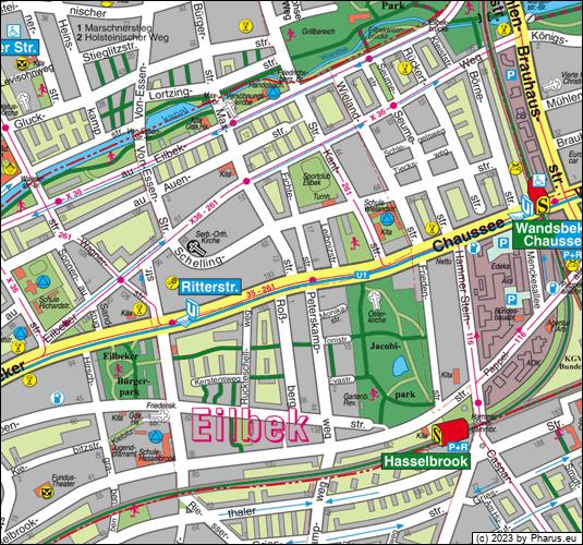 Maxstraße Hamburg, 22089 Hamburg - Eilbek [Straße / Platz]