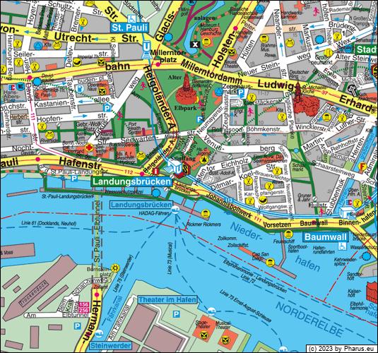 hamburg landungsbrücken karte U Bahnhof Landungsbrücken Hamburg, 20459 Hamburg   Neustadt [Bahnhof]